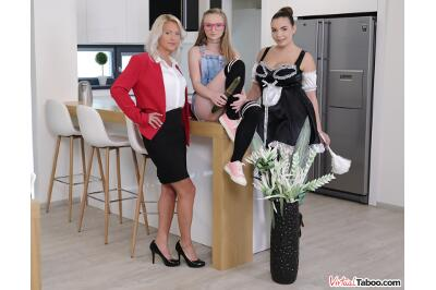 Family Cleaner Got Her Yearly Bonus - Kathy Anderson, Lady Bug, Sofia Lee - VR Porn - Image 1