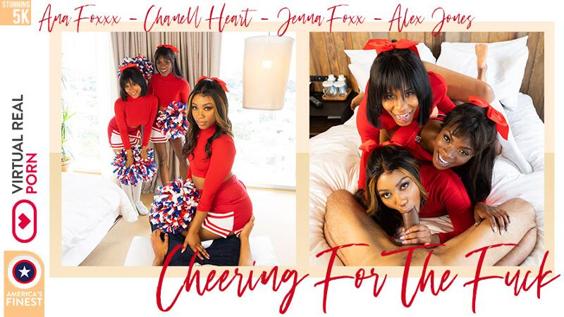 Cheering For The Fuck feat. Ana Foxxx, Chanell Heart, Jenna J Foxx - VR Porn Video