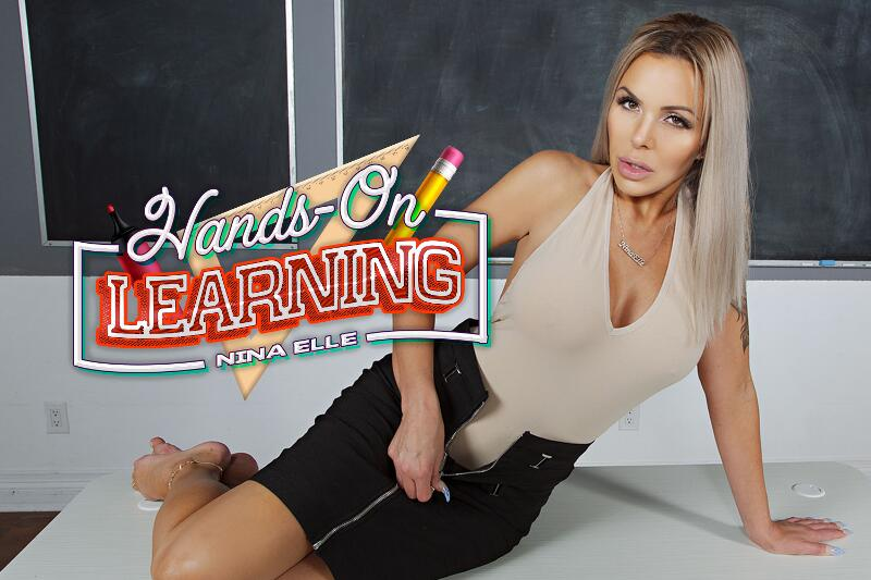 Hands-On Learning feat. Nina Elle - VR Porn Video
