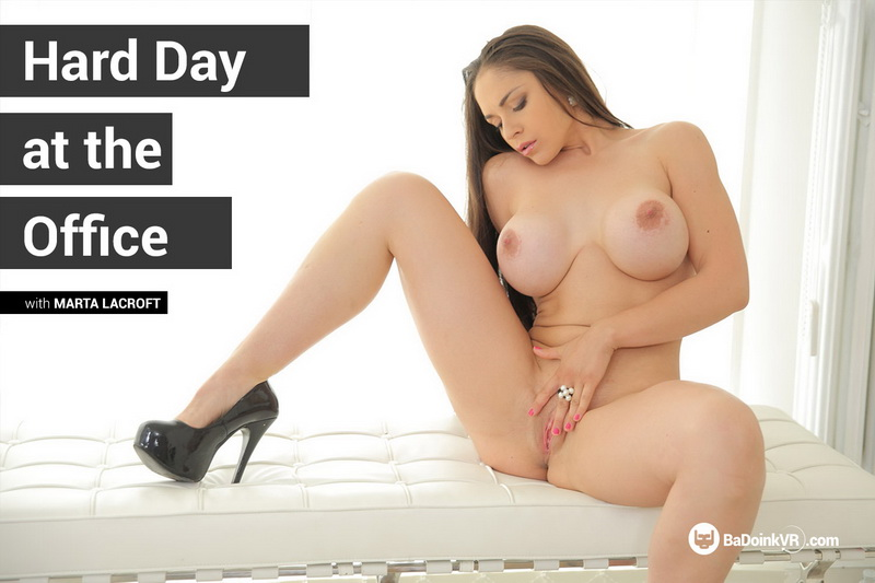 Hard Day At The Office feat. Marta LaCroft - VR Porn Video