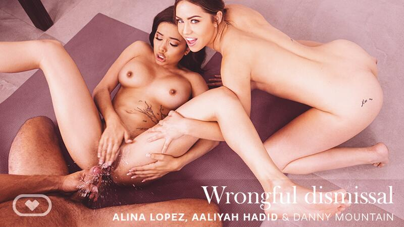 Wrongful Dismissal feat. Aaliyah Hadid, Alina Lopez - VR Porn Video