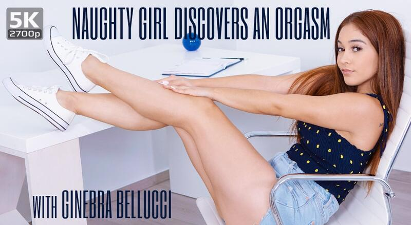 Naughty Girl Discovers an Orgasm feat. Ginebra Bellucci - VR Porn Video