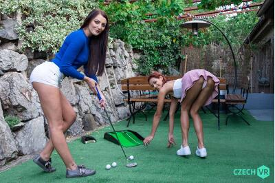 Garden Mini-Golf - Katy Rose, Veronica Leal - VR Porn - Image 1