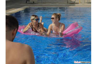 Pool Porn And Bro's Hoes - Alecia Fox, Lolly Small - VR Porn - Image 1