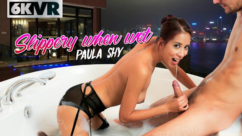 Slippery When Wet feat. Paula Shy - VR Porn Video