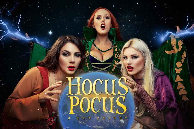 Hocus Pocus A XXX Parody feat. Angel Wicky, Valentina Nappi, Zazie Skymm - VR Porn Video