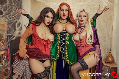 Hocus Pocus A XXX Parody - Angel Wicky, Valentina Nappi, Zazie Skymm - VR Porn - Image 1