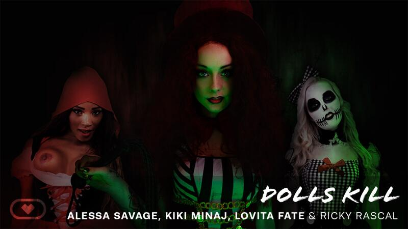 Dolls Kill feat. Alessa Savage, Kiki Minaj, Lovita Fate - VR Porn Video
