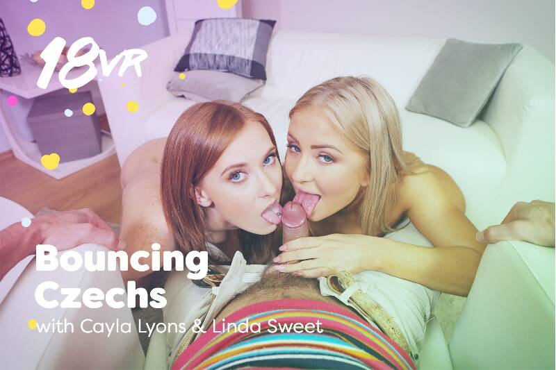 Bouncing Czechs feat. Cayla Lyons, Linda Sweet - VR Porn Video