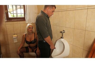 Toilet Tramp - Blanche Bradburry - VR Porn - Image 1