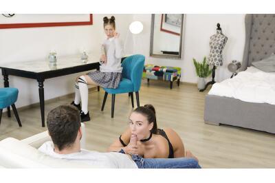 Spoiling My Nerdy Sis - Jessika Night, Lana Roy - VR Porn - Image 3