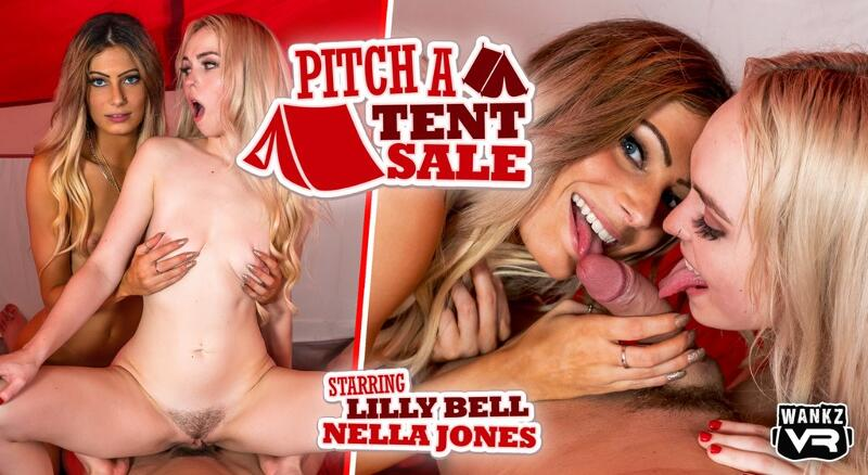 Pitch a Tent Sale feat. Lilly Bell, Nella Jones - VR Porn Video