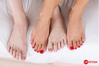 Lovely Feet of Lovely Girls - Charlie Red, Kristy Black - VR Porn - Image 6
