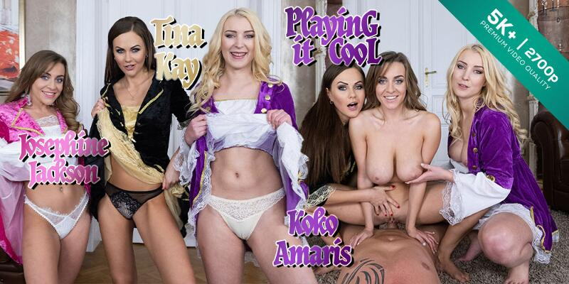 Playing it Cool feat. Josephine Jackson, Koko Amaris, Tina Kay - VR Porn Video