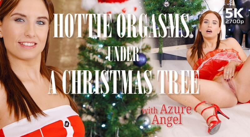 Hottie orgasms under a Christmas tree feat. Azure Angel - VR Porn Video