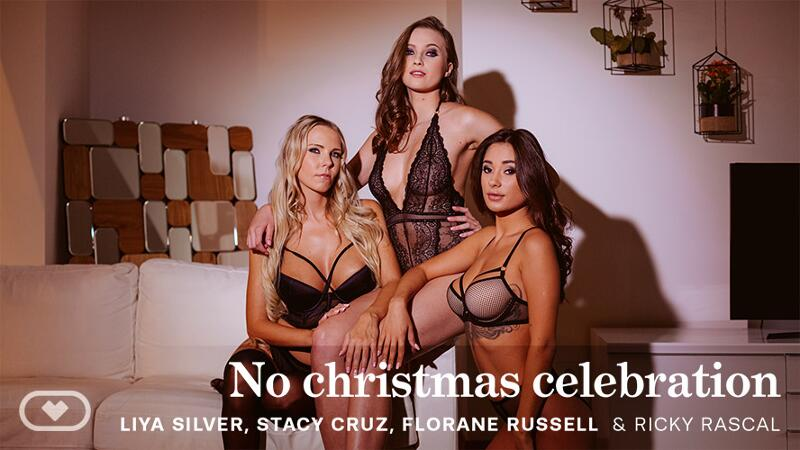 No Christmas Celebration feat. Florane Russell, Liya Silver, Stacy Cruz - VR Porn Video