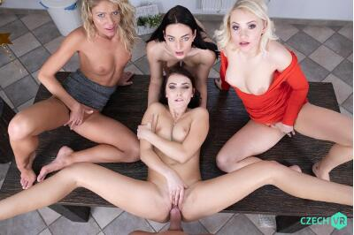 New Year's Fivesome - Claudia Mac, Katy Rose, Leanne Lace, Marilyn Sugar - VR Porn - Image 12
