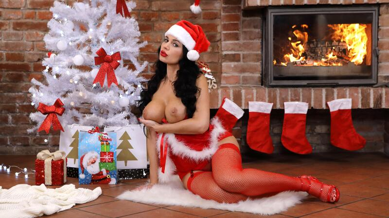 All You Need For Xmas Is Boobs feat. Ania Kinski - VR Porn Video