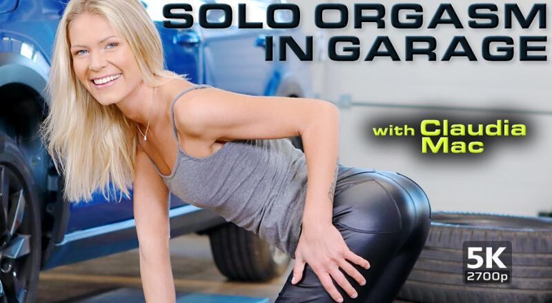 Solo Orgasm in Garage feat. Claudia Mac - VR Porn Video
