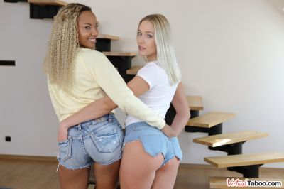 Two Kind Of Hotties - Angelika Grays, Romy Indy - VR Porn - Image 2