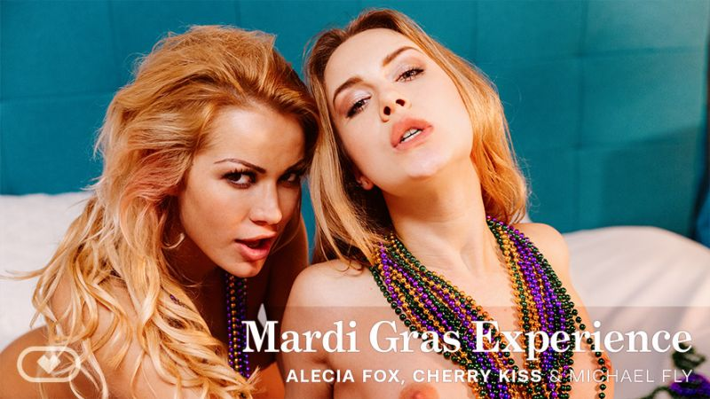 Mardi Gras Experience feat. Alecia Fox, Cherry Kiss, Michael Fly - VR Porn Video