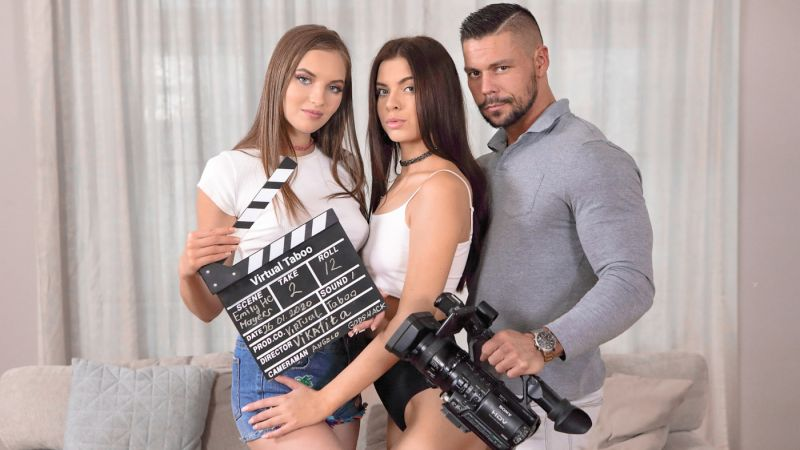 Action! Family Porn Production feat. Emily Mayers, Vika Lita - VR Porn Video
