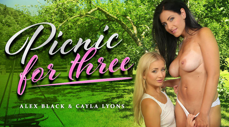 Picnic For Three feat. Alex Black, Cayla Lyons - VR Porn Video