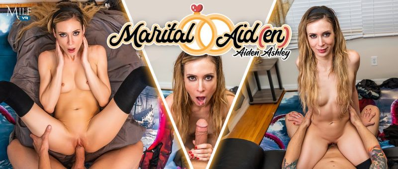 Marital Aid(en) feat. Aiden Ashley - VR Porn Video