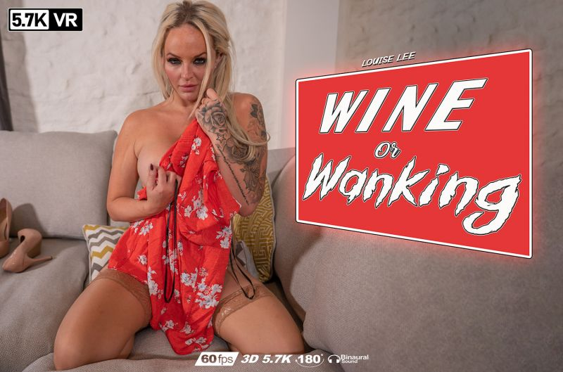 Wine Or Wanking? feat. Louise Lee - VR Porn Video
