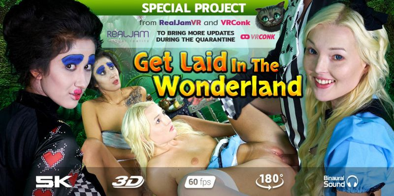 Get Laid In The Wonderland feat. Darcia Lee, Lovita Fate - VR Porn Video