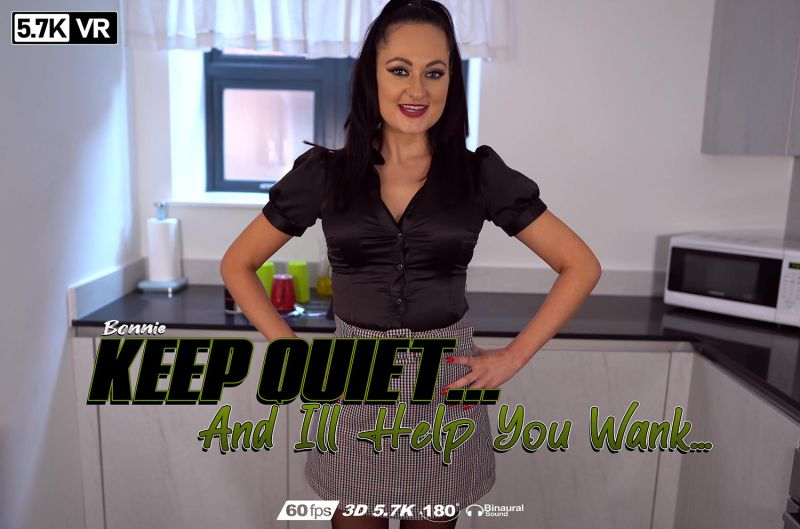 Keep Quiet And I'll Help You Wank feat. Bonnie Bellotti - VR Porn Video