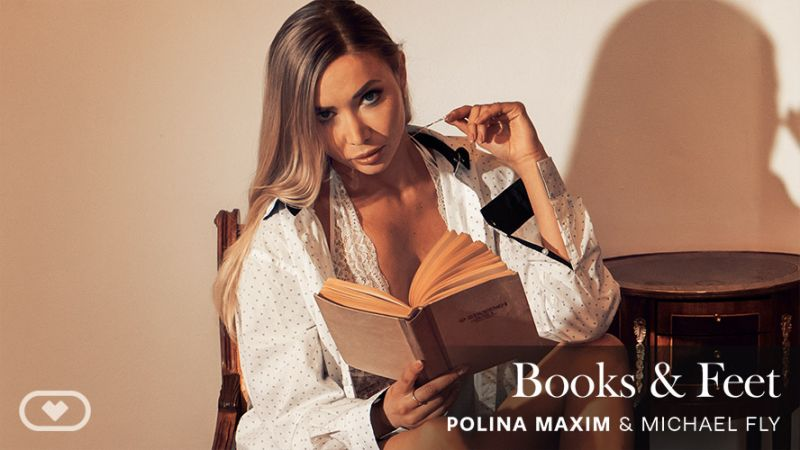 Books & Feet feat. Polina Maxim, Michael Fly - VR Porn Video