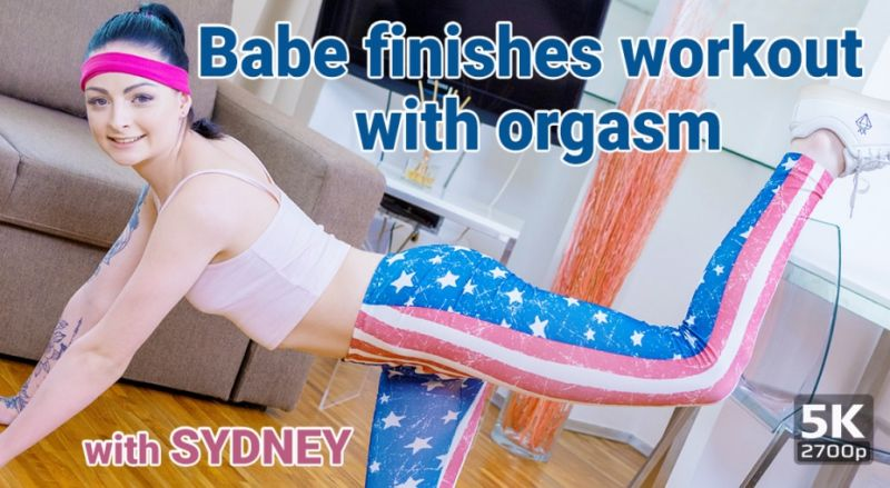 Babe Finishes Workout With Orgasm feat. Sydney Shaw - VR Porn Video