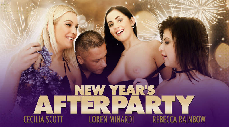 New Year's Afterparty feat. Cecilia Scott, Loren Minardi, Rebecca Rainbow - VR Porn Video