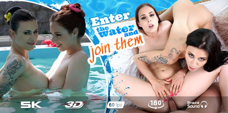Threesome Pool feat. Antonia Sainz, Billie Star - VR Porn Video
