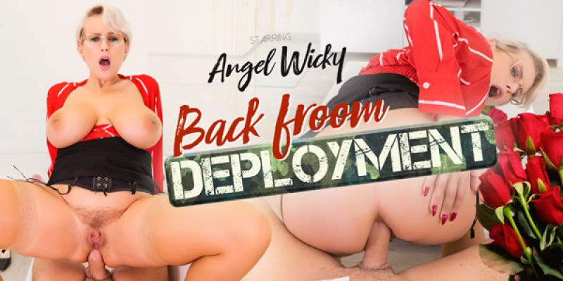 Back From Deployment feat. Angel Wicky - VR Porn Video