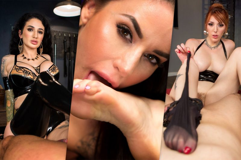 Foot Workaholic Compilation feat. Arabelle Raphael, Cherry Torn, Gia DiMarco, Lauren Phillips, Mona Wales - VR Porn Video
