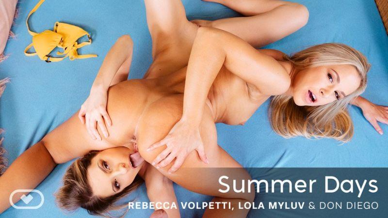 Summer Days feat. Lola Myluv, Rebecca Volpetti - VR Porn Video