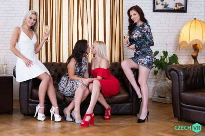 Party of Five - Antonia Sainz, Lenna Ross, Lola Myluv, Marilyn Sugar - VR Porn - Image 1