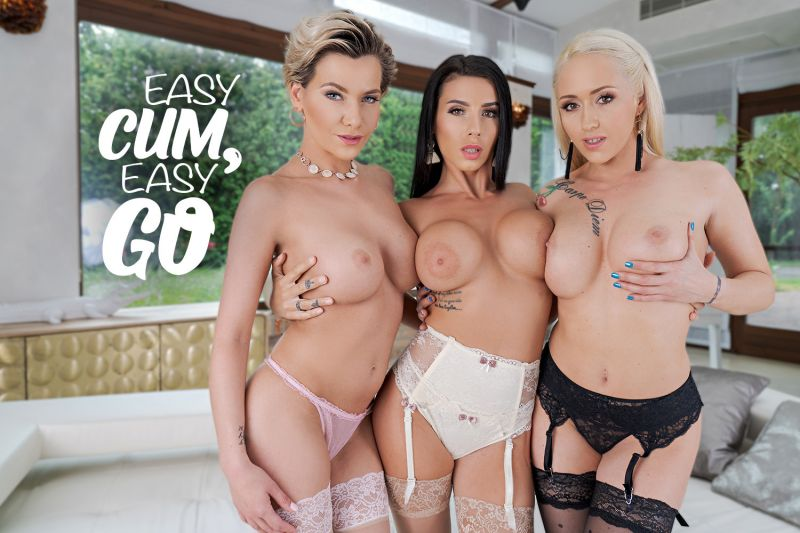 Easy Cum, Easy Go feat. Christina Shine, Nelly Kent, Subil Arch - VR Porn Video