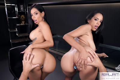 Teach Me Anal 2: Latin Asses - Canela Skin, Katrina Moreno - VR Porn - Image 1