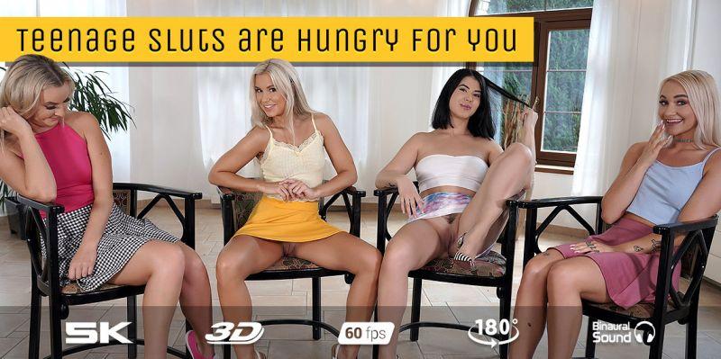 High School Quartet feat. Lady Dee, Lola Myluv, Marilyn Sugar, Victoria Pure - VR Porn Video