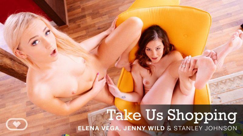Take Us Shopping feat. Elena Vega, Jenny Wild - VR Porn Video