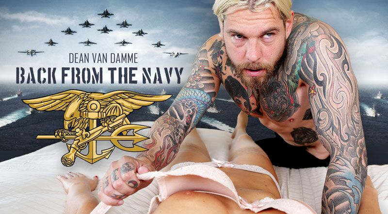 Back From The Navy feat. Tina Kay, Dean Van Damme - VR Porn Video