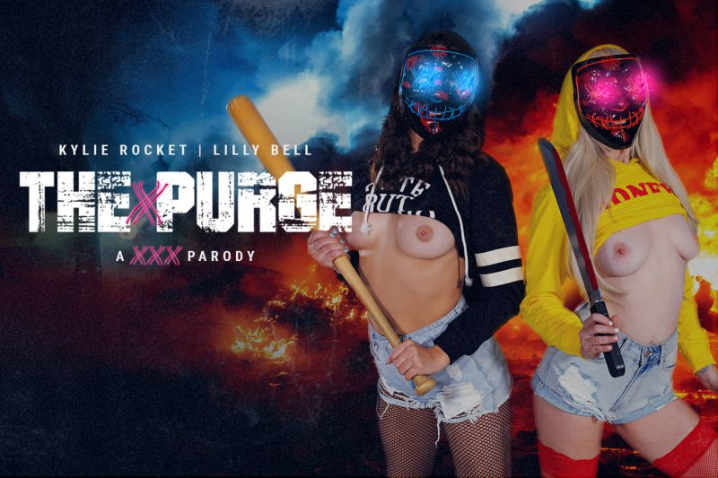 The Purge Is Cumming feat. Kylie Rocket, Lilly Bell - VR Porn Video