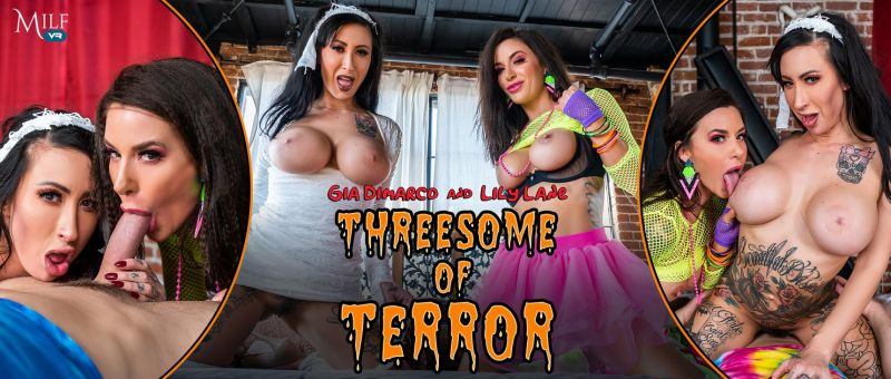 Threesome of Terror feat. Gia DiMarco, Lily Lane - VR Porn Video