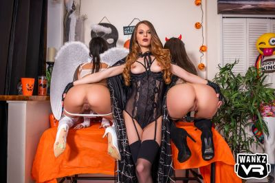 Big Dong! The Witch Is Fed - Jillian Janson, Kylie Rocket, Maddy May - VR Porn - Image 17