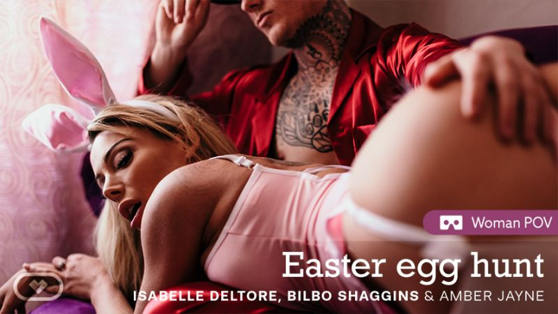 Easter Egg Hunt feat. Amber Jayne, Isabelle Deltore, Bilbo Shaggins - VR Porn Video