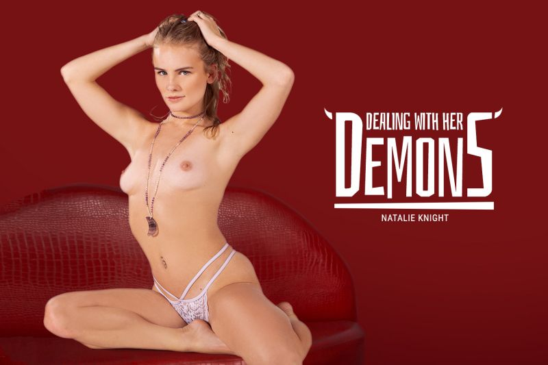 Dealing with Her Demons feat. Natalie Knight - VR Porn Video