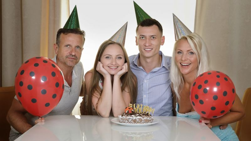 Birthday Is A Family Celebration feat. Kathy Anderson, Lady Bug - VR Porn Video